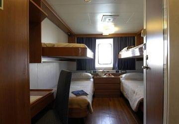 Recensione e guida del traghetto grimaldi lines zeus palace for Prezzi della cabina di tronchi di 3 camere da letto